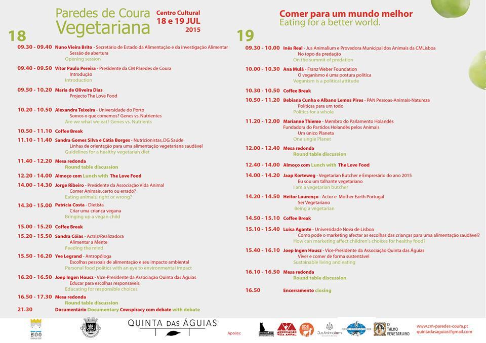 Conferência Internacional Paredes de Coura Vegetariana
