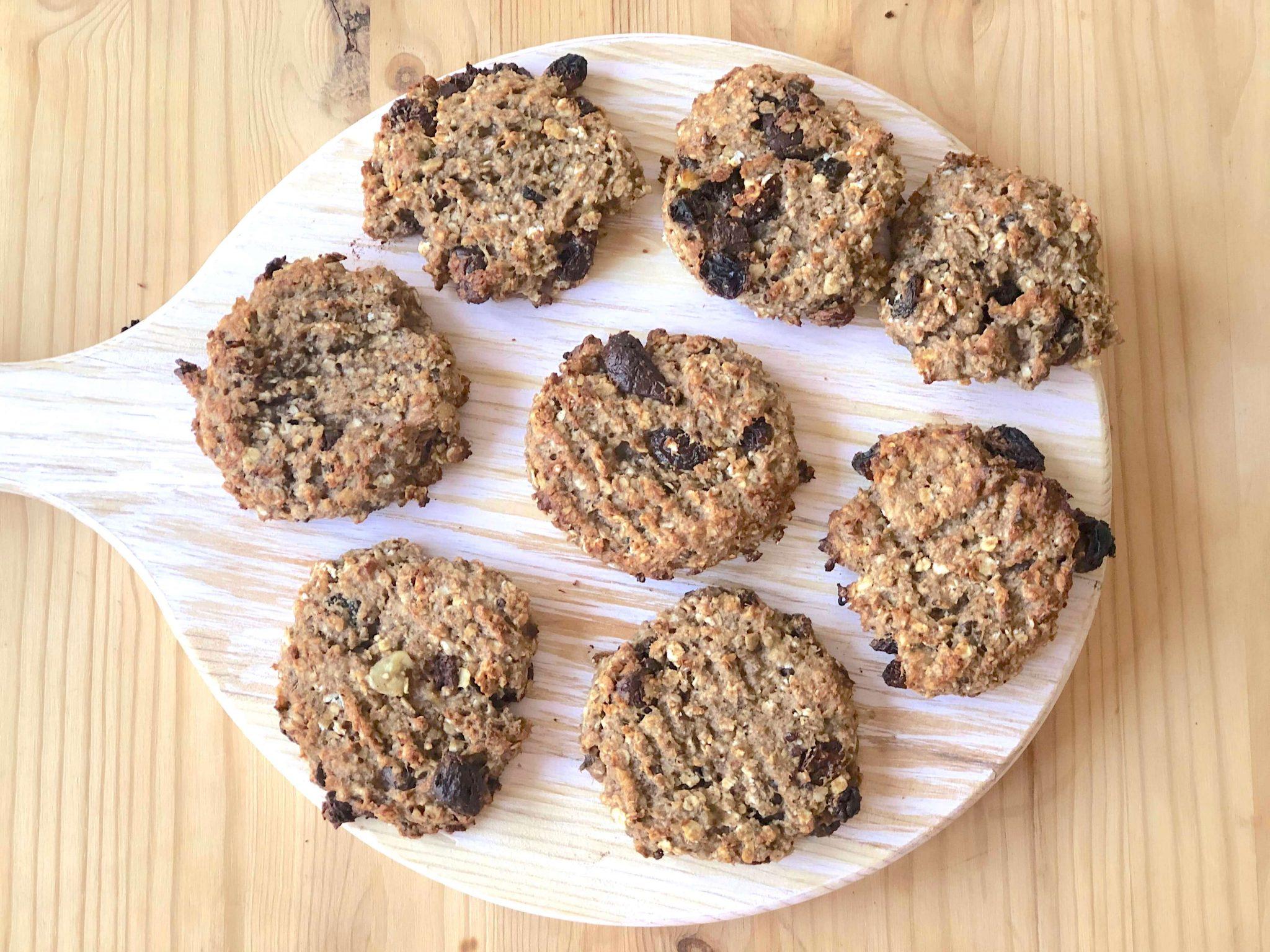 Receitas saudáveis: Bolachas de aveia vegan, sem glúten, sem açúcar e sem óleos (snack delicioso)